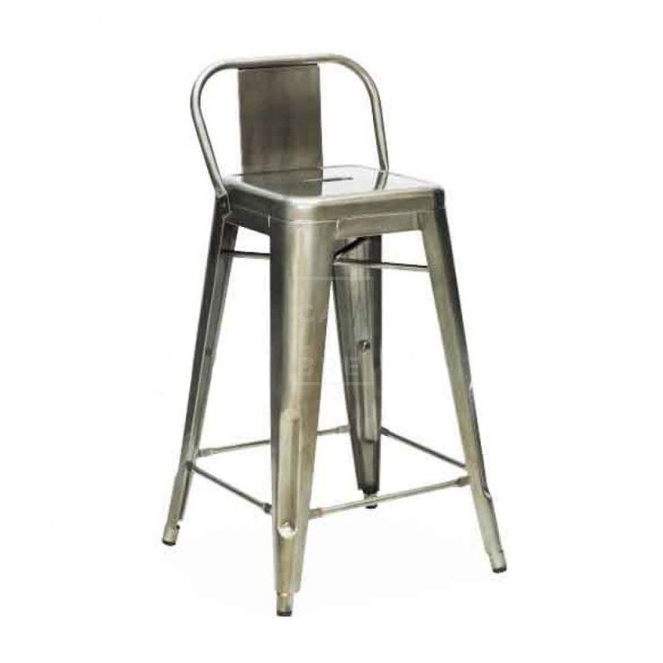 Calibre - Tolix High Stool Chair 75cm - Xavier Pauchard Replica - Premium - Galvanized