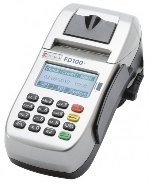 The FD100Ti Encrypted credit card machine combines all the great qualities of the tried and true FD100Ti with the added benefits of newer technologies to make the terminal perform faster, easier, and in a smaller package.