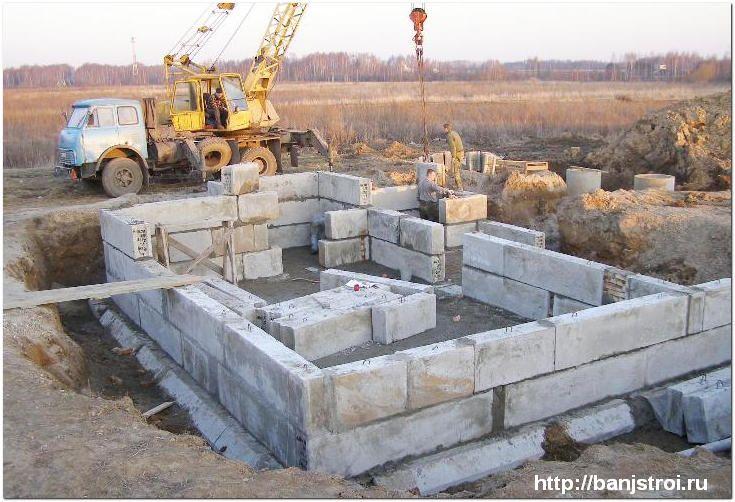 Бетонные блоки для фундамента: виды, размеры