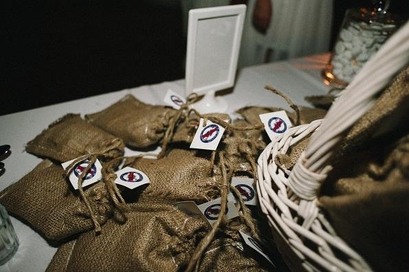 wedding destination  favors : local organic coffee