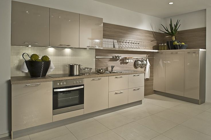 Gloss cashmere German kitchen units