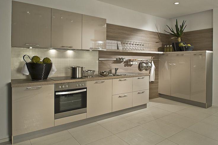 Gloss cashmere German kitchen units
