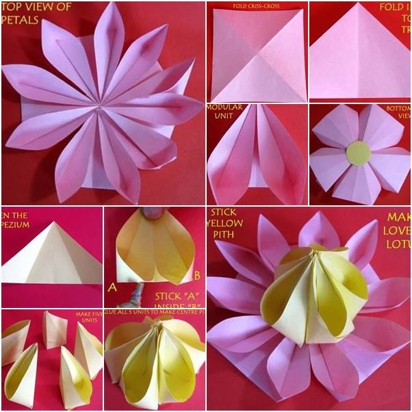 88 best 3d origami images on pinterest cartonnage creative ideas how to fold paper flowers mightylinksfo Images