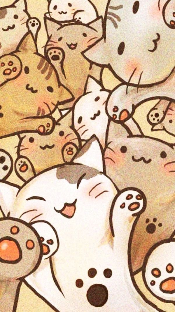 Iphone Wallpapers Cat Wallpaper Cats Cat Cats Iphone Wallpaper Wallpapers Ilustrasi Kucing Seni Kucing Ilustrasi Hewan