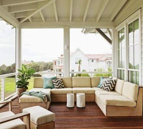 Serene Sandy Outdoor Living Room In A Beach House On - serene living room home decor