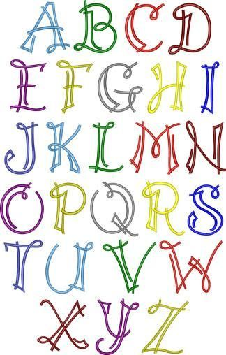 Scrapbook Embroidery Font