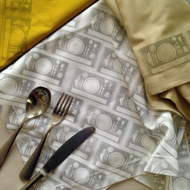 Stamped napkins #rubberstamp Yellow Owl Workshop