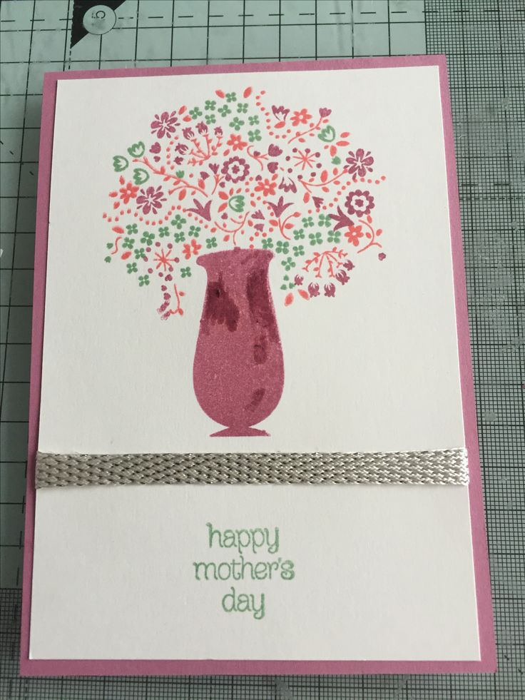 A6 Mother's Day card using a current Stampin' Up! Hostess gift from the occasions catalogue