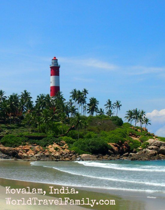 Beautiful Kovalam beach and its lighthouse in, Kerala, India.  A great way to end our 1 month of family travel in India. One thing is for sure, India gets under your skin, we're already planning to be back, this time in north India, within months we hope.