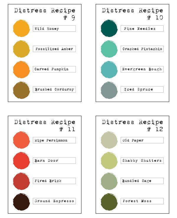 Distress Color Combos | Simon Says Stamp Blog