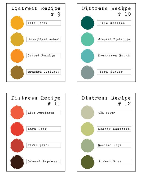 Distress Color Combos | Simon Says Stamp Blog