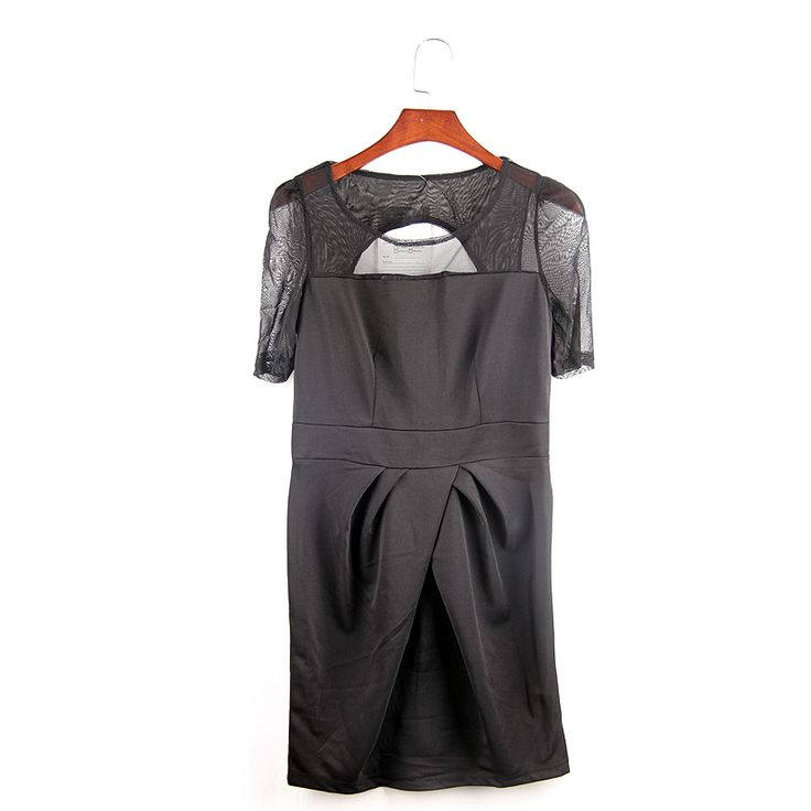Find More Dresses Information about 2016 Black Short Sleeved Dress Pleated Round Neck Knee Length Dress Pierced Sexy Dress Stitching Chiffon Dress,High Quality dress patterns prom dresses,China dress flannel Suppliers, Cheap dress shirts with white collars and cuffs from Comme t'y es belle! on Aliexpress.com