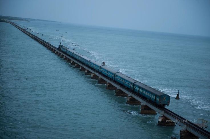 Pamban Bridge , Rameshwaram , Tamil Nadu