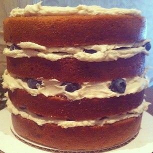 """""""unfinished"""" blueberry cake"""