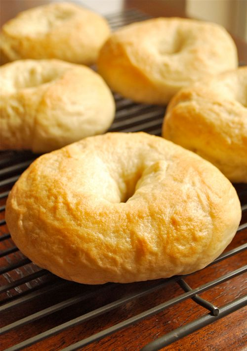 Homemade Bagels -- Spread on the Polaner All Fruit with Fiber in your favorite fruit flavor! - For a good source of fiber, eat right with Polaner. polanerallfruit.com #breakfast #homemade #fiber