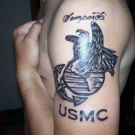 30 Bad Ass Marine Corps Tattoos – Strepik Temporary Tattoos