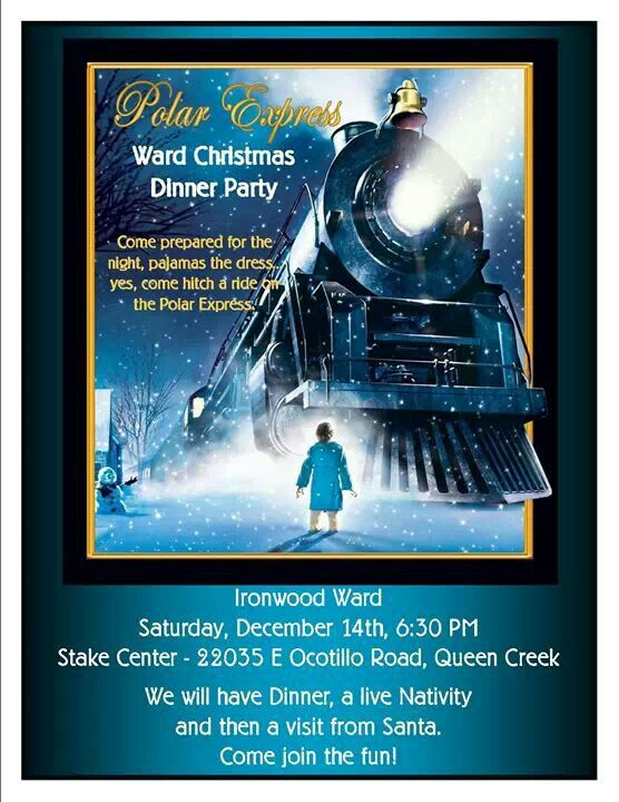 Polar Express Flyer Decor For Work With Jackie Polar