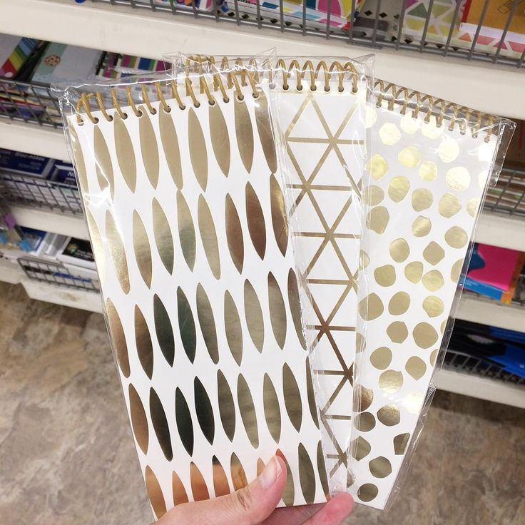 Dollar Tree Finds - Gold Foiled Notepads