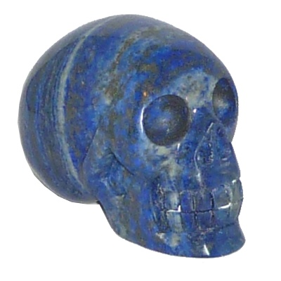 Lapis lazuli kristallen schedel (326gram)