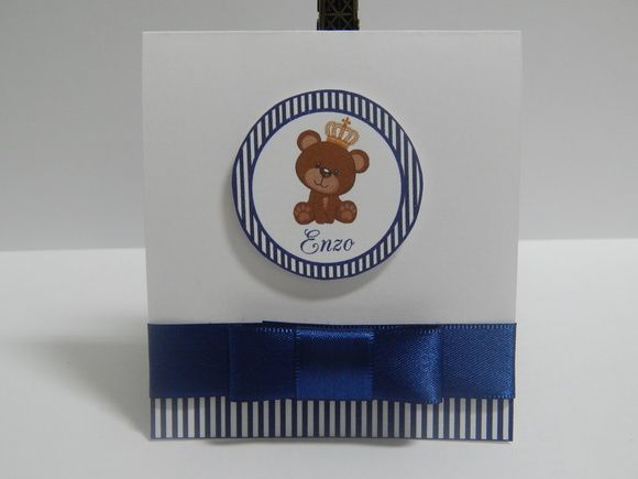 Mini Convite Príncipe Ursinho