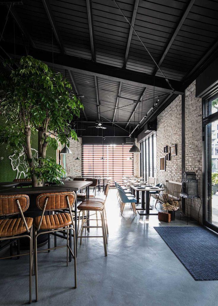 Ris interior design brings a vivid playfulness to taiwans gatto bianco bistro