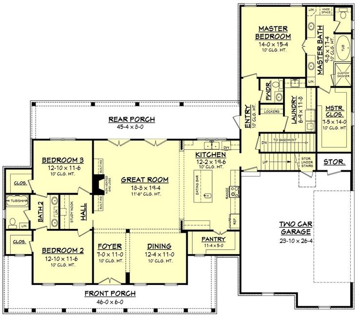 Farmhouse Style House Plan 3 Beds 2 50 Baths 2282 Sq Ft 430