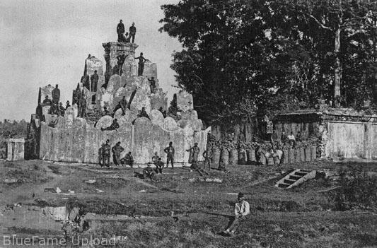 Tentara KNIL di Gunongan, Kutaraja, tahun 1874