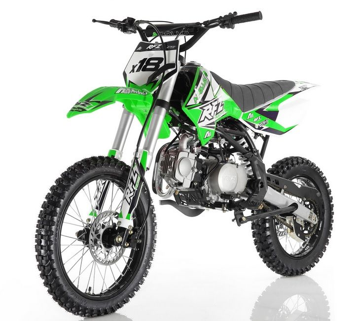 Apollo Dirt Bike 125cc Over Size With 17 Tire Twin Spar Frame Inverted Forks