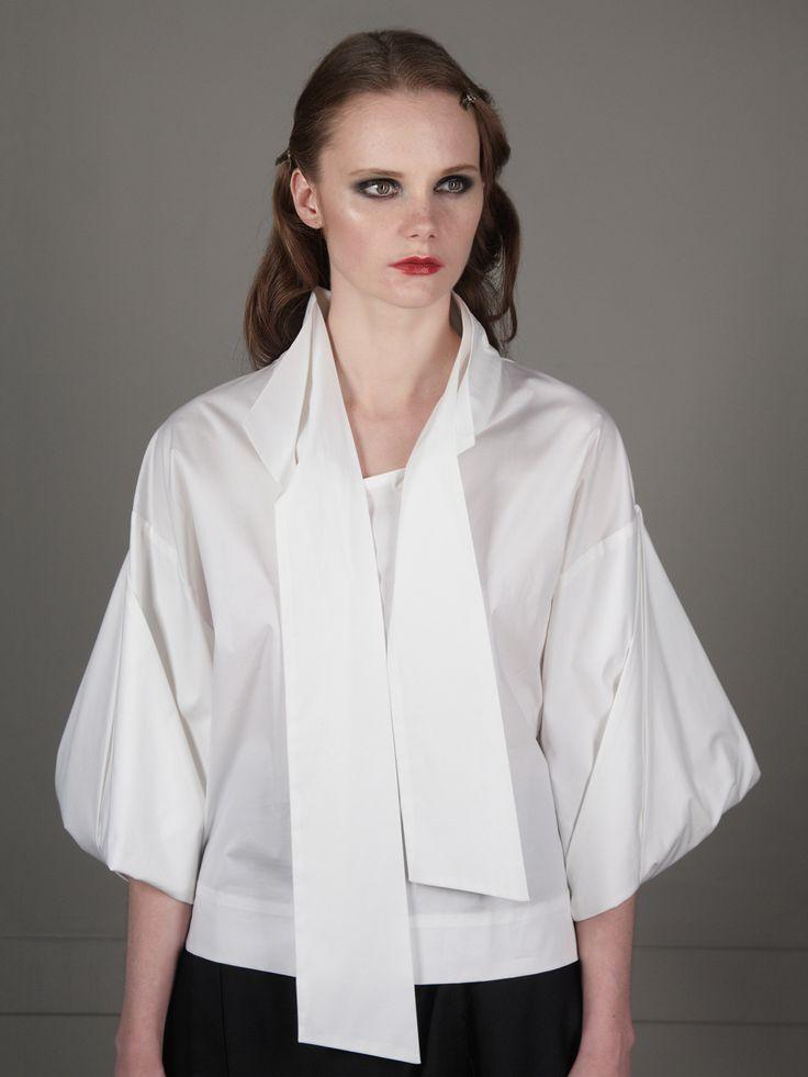 Origami Tie-Neck Shirt | J.Perekriostova