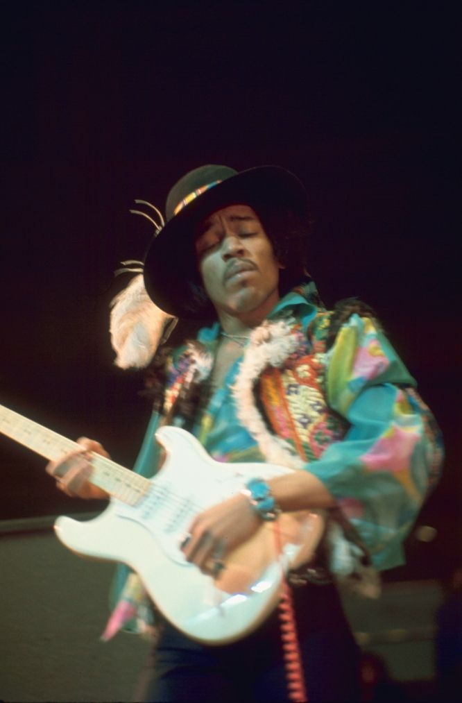 Jimi Hendrix, who spoke proudly of his Cherokee grandmother, was one of many famous African Americans in the 1960s who cited family traditions linking them to Native ancestry. Photo: Graham F. Page
