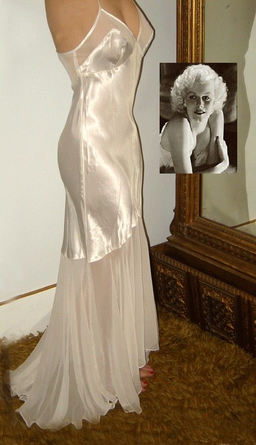 Vintage Negligee Photos | Vintage Hollywood Glamour Negligee Gown Jean by junkstorebaron