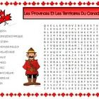 Les Provinces et les Territoires du Canada Mots Cachées  This is an activity from the 15 page Géographie du Canada packet for sale from my store, C...