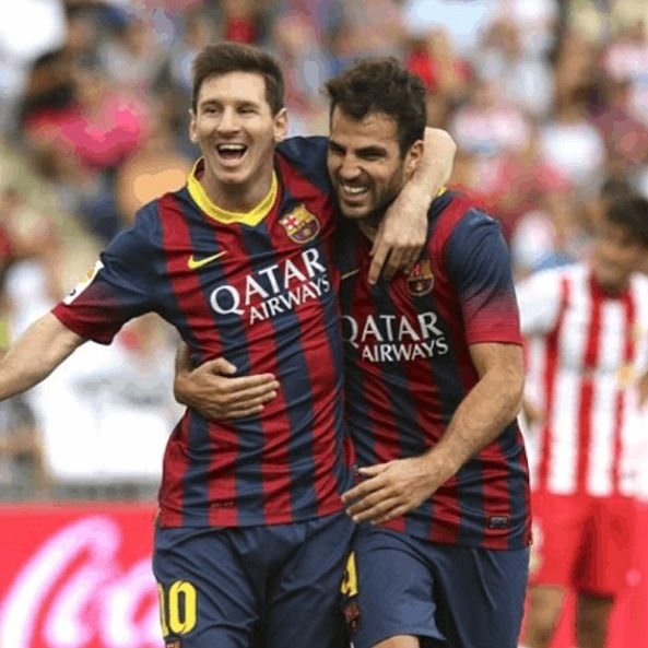 Messi and Fabregas  FC Barcelona
