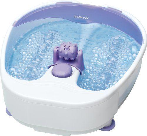 Bomann – FM 8000 CB – Bain de massage pour pieds: effet du bain à remous noppes pour stimuler la réflexologie plantaire poulie à massage,…