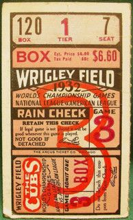 1932 World Series Gm 3 Yankees at Cubs