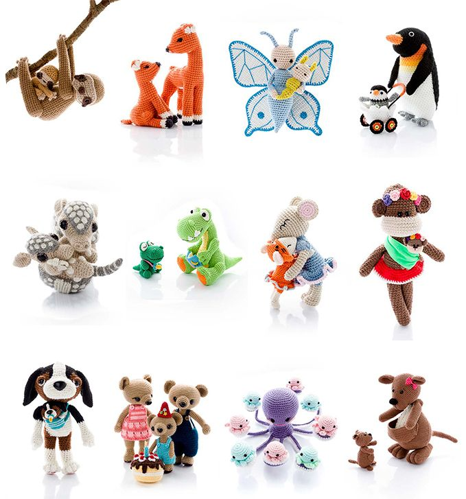 Amigurumi Parent And Baby Animals Free Download : - Amigurumipatterns.net Toys, Baby animals and Animals
