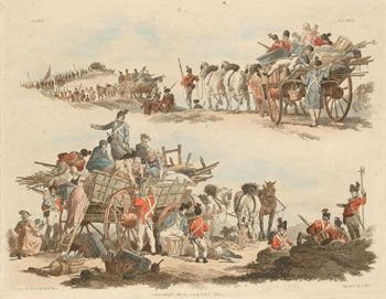 1803 'Camp Scenes', etchings by and after W H Pyne, published by Pyne and Nattes nam.ac.uk