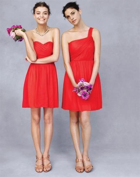 Платье красное подружки невесты