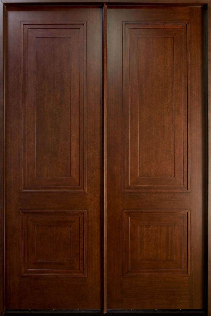 Modern wooden front doors pompano beach - Mahogany Solid Wood Front Entry Door Double