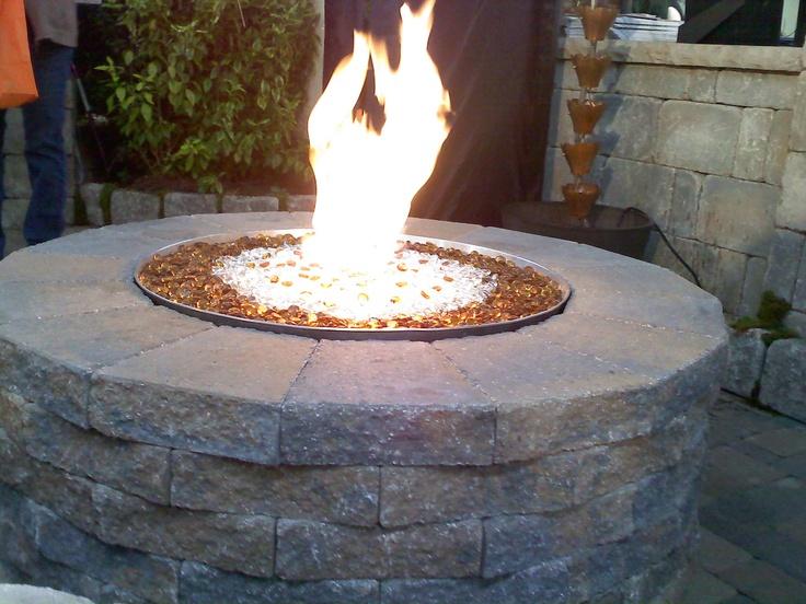 Gas & glass firepit