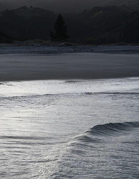 Trish Sinclair Photographer - Dusky evening light - photo taken Omaha Beach New Zealand.