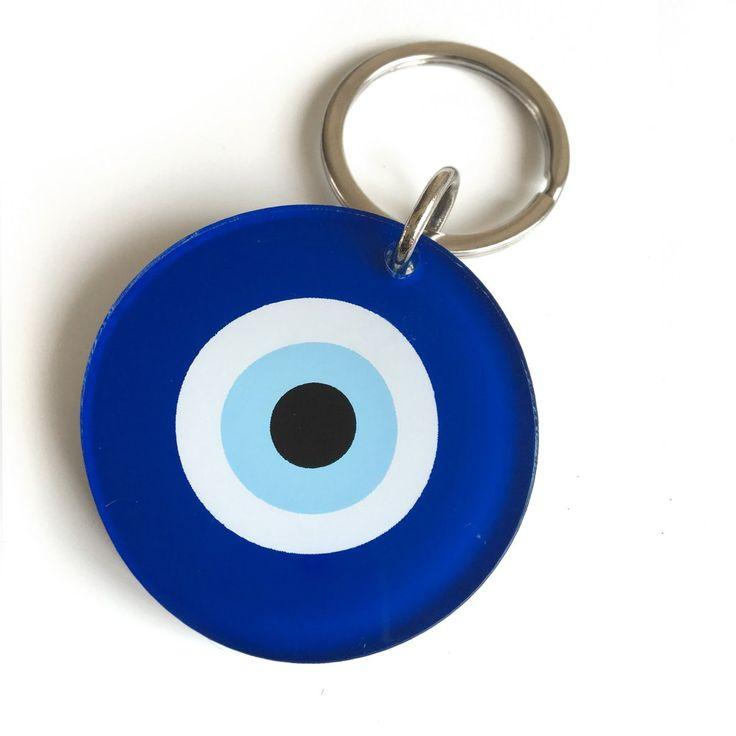Blue Evil Eye Key Ring