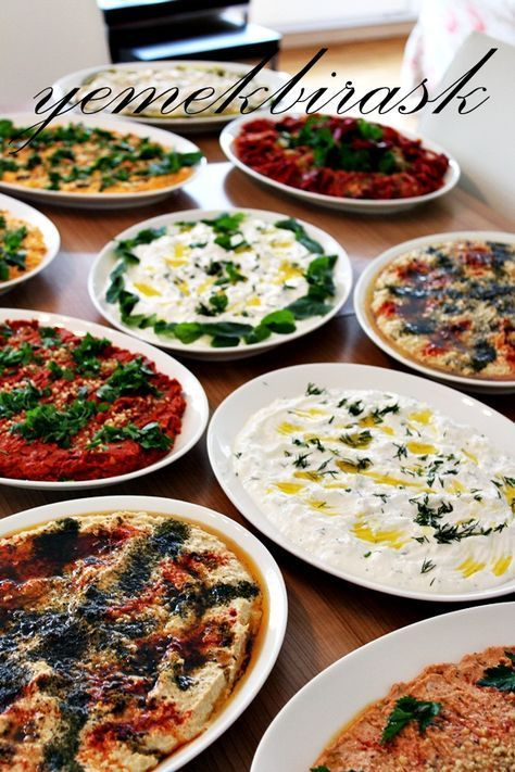 turkish mezes / mezeler