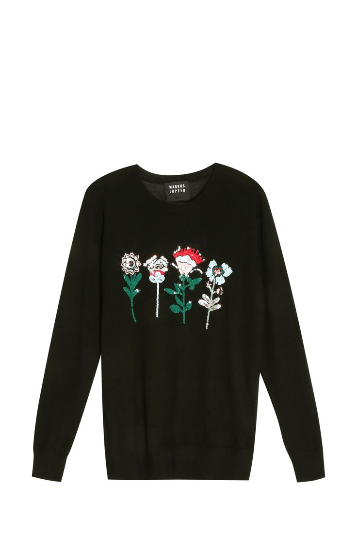 Mexican Flower Sweater By MARKUS LUPFER @ http://www.boutique1.com/