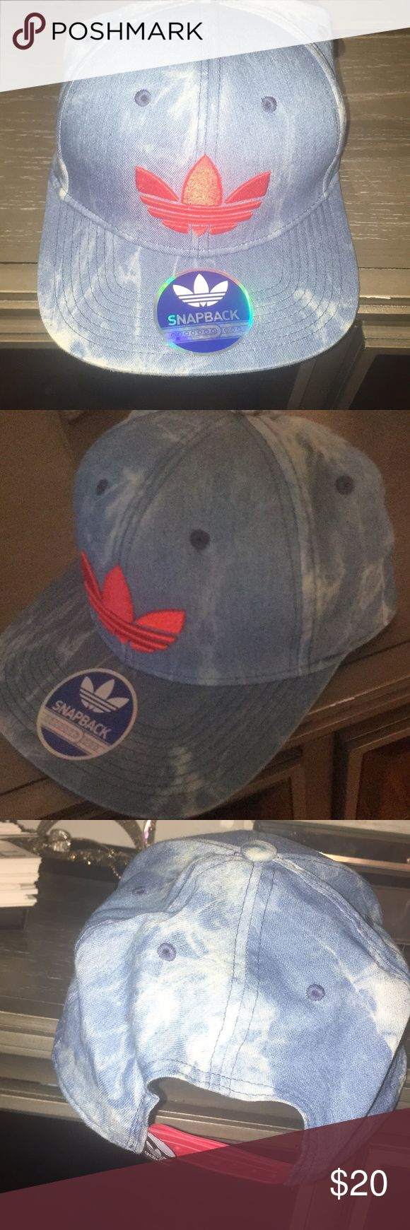 Demin adidas snapback Adidas denim and red snap back. Never worn adidas Accessories Hats