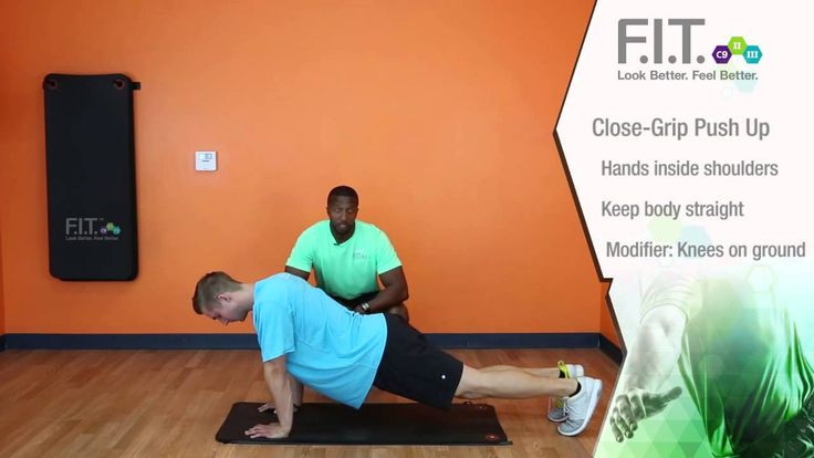 F.I.T. Exercises - Close Grip Push Ups  http://myforeverfit.flp.com