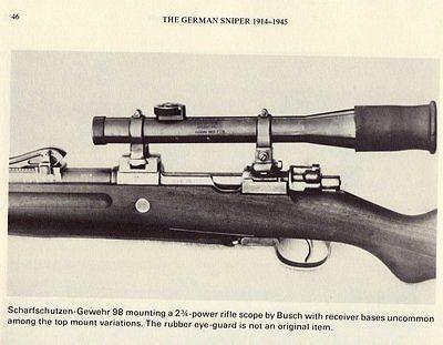 Original German G98 Sniper Scope Emil Busch ZF Scharfschütze Zielfernrohr…