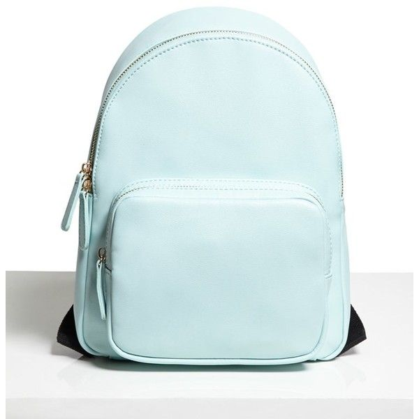 Forever21 Faux Leather Mini Backpack (77 BRL) ❤ liked on Polyvore featuring bags, backpacks, mint, backpack bags, blue backpack, forever 21, mini backpack and mint backpacks