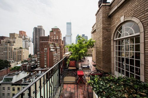 New york city apartment terrace porch veranda terrace for Terrace balcony