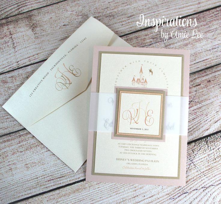 Disney Wedding Invitations Fairy Tale by InspirationsbyAmieLe